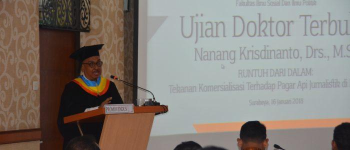 Mantan Wartawan Surabaya Post Raih Gelar Doktor