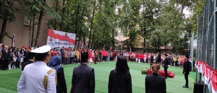 """HUT Ke-74 RI di Moskow: Solidaritas Bantar Gebang sampai Lomba Joget """"Syantik"""""""